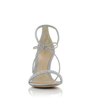 Sandalen aus irisierendem Wildkeder mit Kristallen Pascale 80 GIANVITO ROSSI