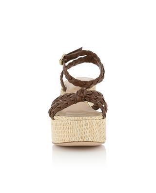 Kea Wedge raphia and braided leather sandals GIANVITO ROSSI