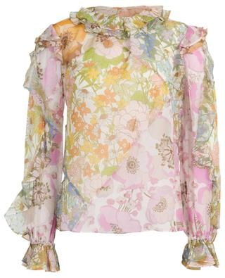 Floral print cotton and silk blouse ZIMMERMANN