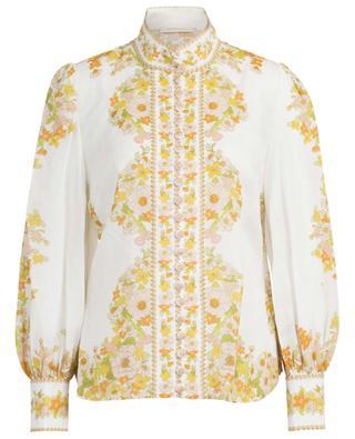 Hemd aus Ramie mit Blumenprint Super Eight ZIMMERMANN