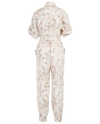 Combi-pantalon en lin imprimé avec ceinture Super Eight ZIMMERMANN
