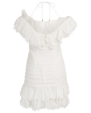 Super Eight off-shoulder linen and silk short dress ZIMMERMANN