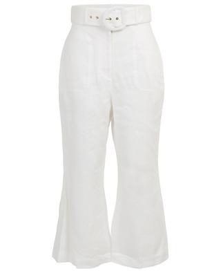 Weite Hose aus Leinen mit Gürtel Super Eight ZIMMERMANN