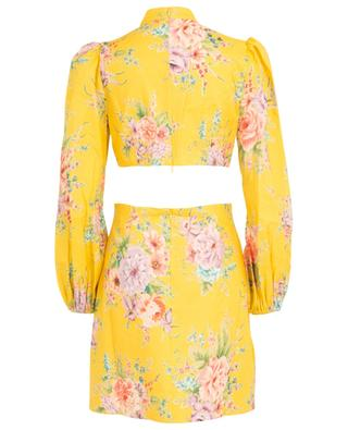Zinnia Bow Golden Floral dress with waist cut-outs ZIMMERMANN