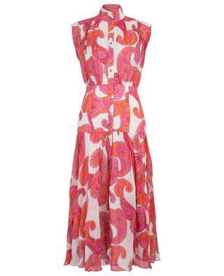 Peggy sleeveless paisley print shirt dress ZIMMERMANN