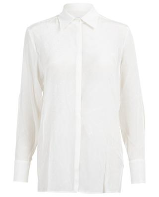 Logo print silk blend shirt VICTORIA BY VICTORIA BECKHAM