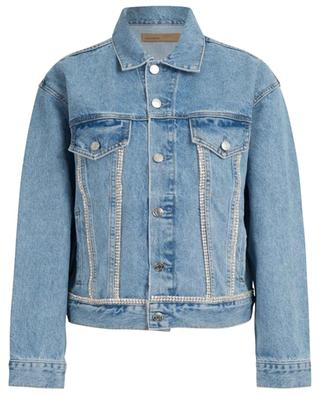 Kim Stoned Love crystal embellished denim jacket GRLFRND