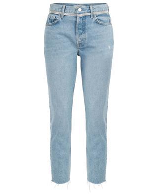 Karolina Kick It high-rise slim fit jeans with crystals GRLFRND
