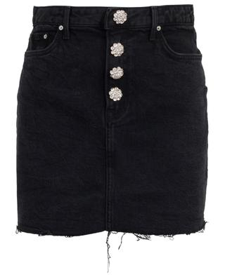 Jeans mini skirt with crystal buttons GRLFRND