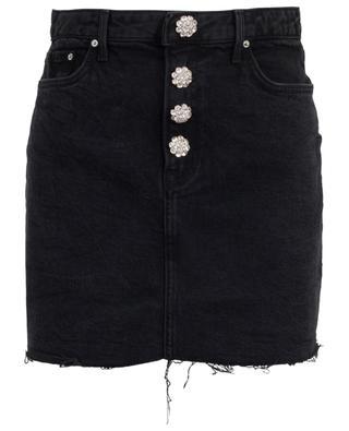 Minijupe en jean avec boutons cristaux Reese GRLFRND