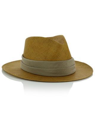 Chapeau en papier avec ruban en soie et strass FABIANA FILIPPI