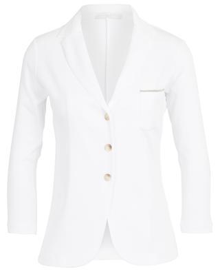 Fitted ribbed cotton jersey blazer FABIANA FILIPPI