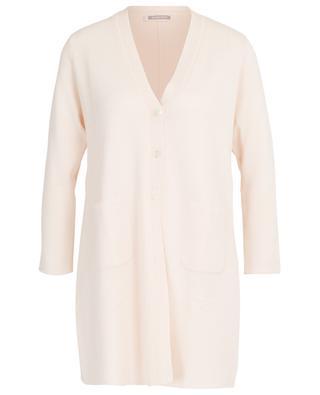 Thin button-down wool stretch cardigan HEMISPHERE