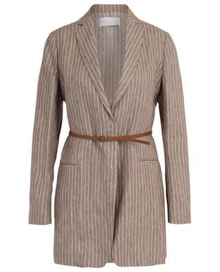 Striped linen mid-length jacket FABIANA FILIPPI