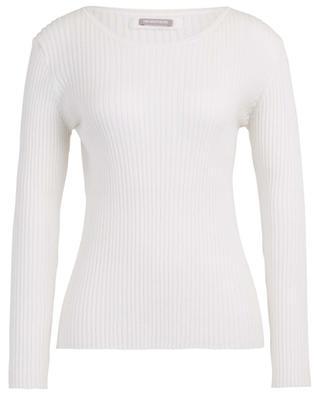 Lightweight rib knit sheath jumper HEMISPHERE