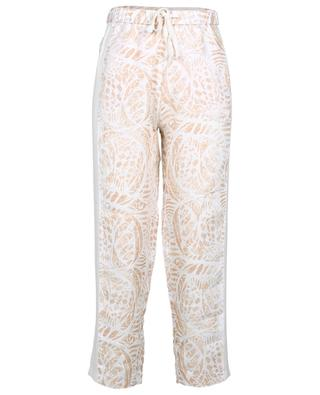 Ilem cropped wide-leg linen and crepe trousers HEMISPHERE