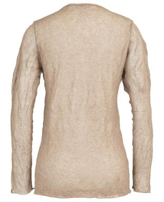 Layer effect sheer linen and lurex jumper FABIANA FILIPPI