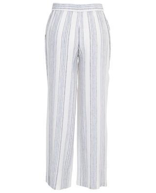 Karo striped linen blend wide-leg trousers HEMISPHERE