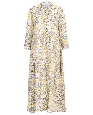 Langes Kleid aus Viskose mit Print und Falten Feli HEMISPHERE