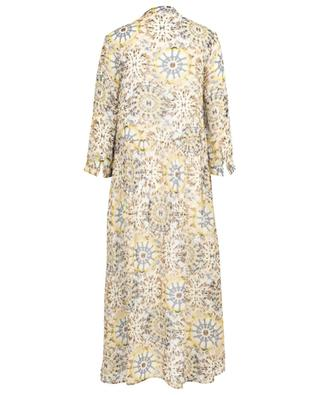 Robe longue en viscose imprimée avec plis Feli HEMISPHERE