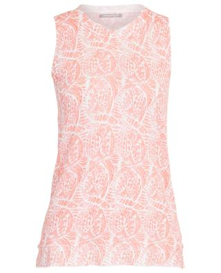 A-line knit tank top with ethnic print HEMISPHERE