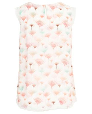 Fura print sleeveless top with lace HEMISPHERE