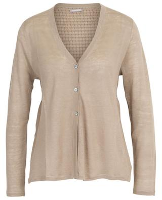 Sheer linen cardigan with cable knit detail HEMISPHERE