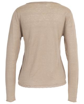 Lace embellished thin linen jumper HEMISPHERE