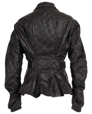 Short brand logo jacket with belt MONCLER