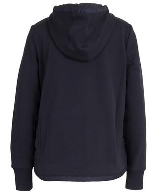 Hooded sweat jacket with down yoke MONCLER