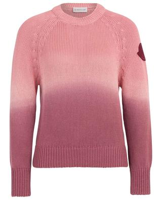Cable-knit cotton jumper MONCLER