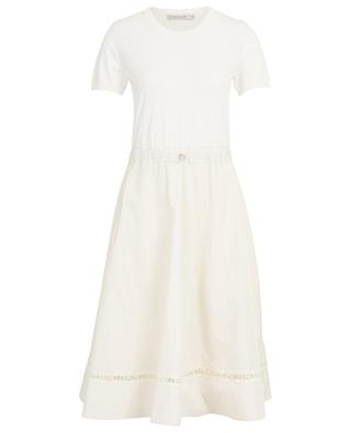 Robe en viscose mélangée avec logo MONCLER