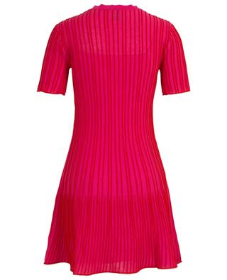 Pink knit mini dress with red stripes M MISSONI