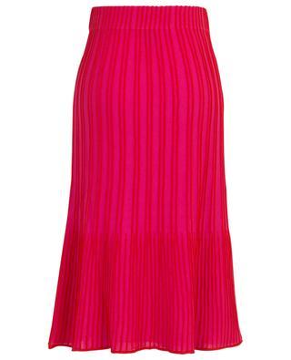 Flared striped knit midi skirt M MISSONI