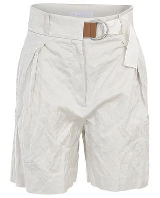 Crinkled-effect cotton blend shorts FABIANA FILIPPI