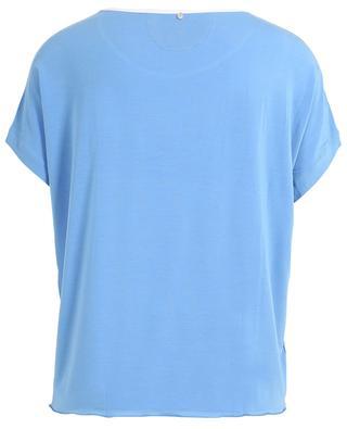 Loungewear cropped top BLUE LEMON