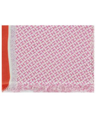 Tagby-CS monogrammed and striped scarf HEMISPHERE