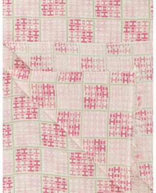 TWE-CS chessboard pattern monogram scarf HEMISPHERE
