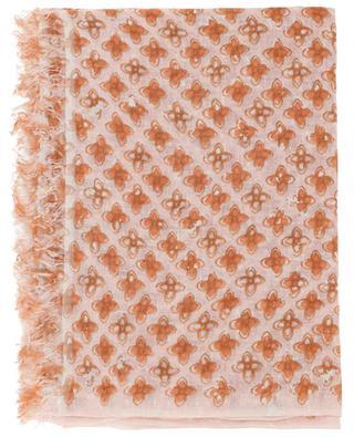 Luke-L floral linen scarf HEMISPHERE