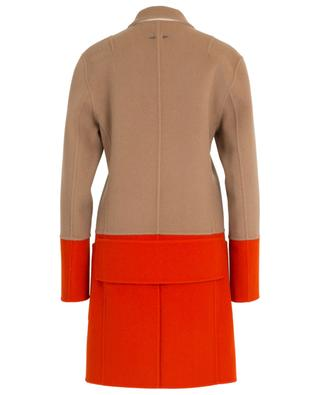 Tricolour wool and cashmere coat BARBARA BUI