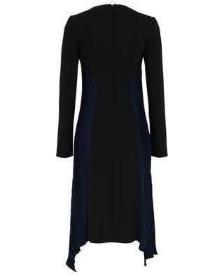 Long-sleeved pleated crepe dress BARBARA BUI