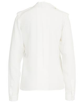 Silk blouse with ruffle BARBARA BUI