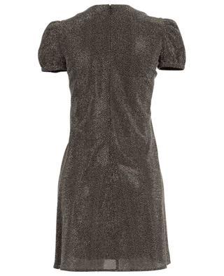 Strass adorned short-sleeved mini dress SAINT LAURENT PARIS