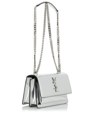 Sunset Small mirror effect vinyl shoulder bag SAINT LAURENT PARIS