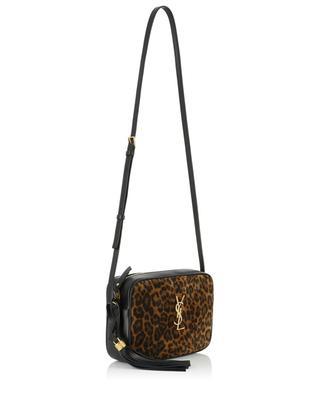 Sac à bandoulière en cuir et daim imprimé léopard Lou Medium SAINT LAURENT PARIS