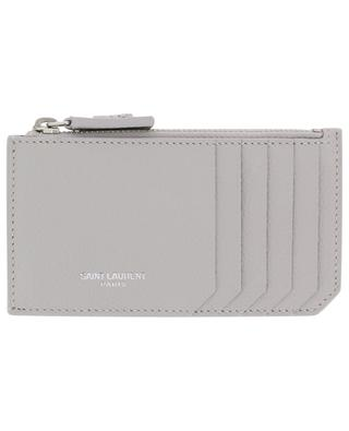 Fragments card-holder with zippered pouch SAINT LAURENT PARIS
