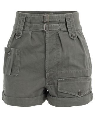 Distressed look cotton blend shorts SAINT LAURENT PARIS