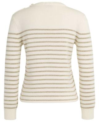 Lamée knit lightweight sailor jumper SAINT LAURENT PARIS