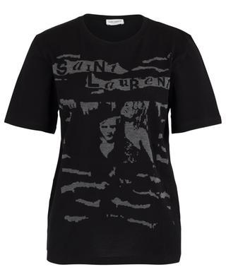 T-shirt aus Baumwolle mit Print SAINT LAURENT PARIS