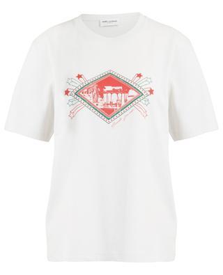 T-shirt effet vieilli imprimé Jardin Majorelle SAINT LAURENT PARIS